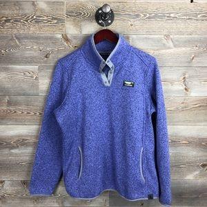 LL Bean Snap Fleece Pullover